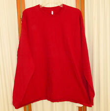 Men's Shirt T-Shirt LS RN PO RUSSELL Thick Cotton Burgundy Red XXL
