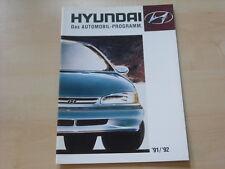 54198) Hyundai Pony Lantra Sonata S Coupe Prospekt 01/1991