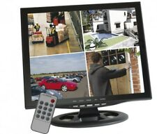 "17"" 42cm  Quadbild CCTV Monitor Überwachung Überwachungsmonitor BNC 4fach Split"