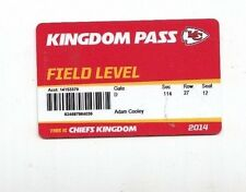 2014 KANSAS CITY CHIEFS SEASON TICKET STUB ID CARD VS PATRIOTS SEAHAWKS ETC