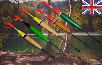 5 SUPERB TRADITIONAL FISHING FLOATS BOBBERS BASS PIKE CARP BASS CANAL LAKE RIVER