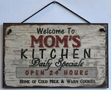 Mom s Sign Kitchen Cook ing ie Bake Book Mother Day Gift Home Desert House Decor