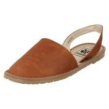 Sandalias y chanclas de mujer marrón sintético, Talla 38