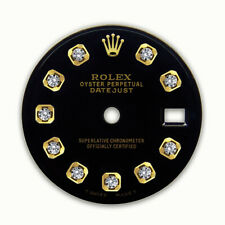 REFINED LADIES 2-TONE DATEJUST BLACK DIAMOND DIAL FOR ROLEX-26