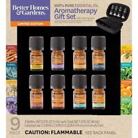 Better Homes & Gardens 100% Pure Essential Oils 9 Pack Travel Set Aroma Therapy