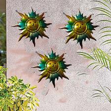 3PCS Metal Sun Fence Hanger Wall Hanging Garden Outdoor Yard Patio Decor 6''