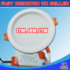 30W Round LED Recessed Ceiling Flat Panel Backlite DownLight  6000k NoLight leak