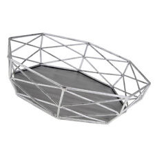 Geometric Tray Hollow Out Table Decorating Basket Cake Stands Silver