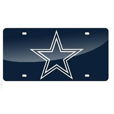 Dallas Cowboys Blue Mirrored Laser Cut License Plate Laser Tag