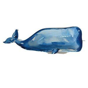 "Nautica Home Blue Whale Serving Tray Platter 21"" 100% Melamine"