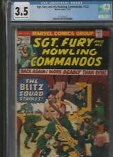 MILITARY SECTION: SGT. FURY AND HIS HOWLING COMMANDOS # 122 CGC 3.5