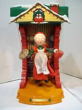 Animated Christmas NOMA Santa's North Pole Workshop Puppet Theater MRS. CLAUS