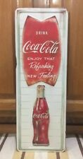 Coca Cola Metal Vintage Style Bottle Wall Decor Gas Oil Service Station Cooler