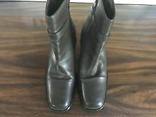KAREN SCOTT BROWN ANKLE BOOTS WITH BUCKLE SIZE 8.5M