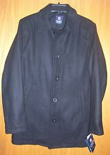 Mens CHAPS 5 button black wool blend fully lined dress coat sz Small NWT $200.00