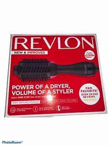 Revlon One-Step Hair Dryer And Volumizer Hot Air Brush, Black Pink