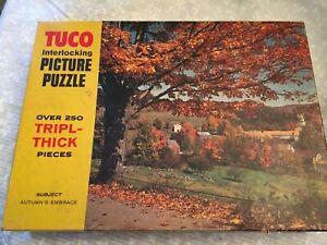puzzle Tuco 250 piece tripl-thick pieces.  Interlocking. Autumn's embrace.