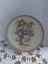 """1977 Hand Painted Hummel """"Apple Tree Boy"""" Collector's Plate by Goebel"""