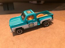1/64 MATCHBOX SQUARE BODY 1975 CHEVROLET STEPSIDE PICKUP TURQUOISE TRUCK READ