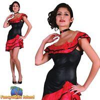 SEXY SPANISH LADY RUMBA DANCER - Size 10-14 - womens ladies fancy dress costume