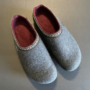 Therafit Women's Heather Gray Slip-On Wool Clog Shoes US 7.5 EUR 38