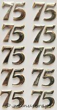 Artoz Artwork 3D-Sticker, Zahlen 75 silber, goldfarben schattiert