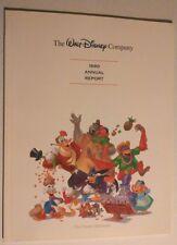 Vintage Disneyland Walt Disney Productions 1990 Annual Report Booklet Duck Tales