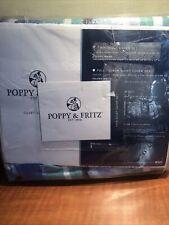 Poppy and Fritz ALEX Twin Duvet New Cover Set Blue Green White Aqua
