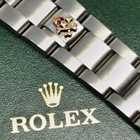 Skull for Rolex Oyster Bracelet is made of SS / 9k gold red rubies
