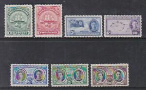 Turks & Caicos Islands 1948 Mint MLH Centenary of Separation from Bahamas KGVI