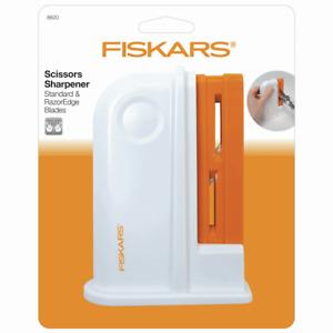 FISKARS Scissor Sharpener for Standard & Razor Edge Scissors. Easy to Use. 8620.