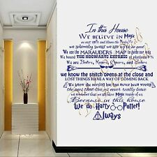We do Harry Potter black oracal vinyl wall decal with broomsticks,