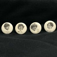 Vintage THE MONKEES 1 Inch Pinback Buttons ~ Set of 4 Davy-Micky-Peter-Michael