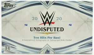 2020 TOPPS WWE UNDISPUTED WRESTLING HOBBY BOX FACTORY SEALED NEW
