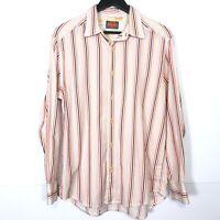 Tommy Bahama Long Sleeve 100% Cotton Button Shirt Multicolor Stripe Men's Size M