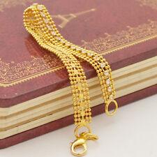 Sparking Soft Bracelet Chain 14K Yellow Gold Filled  Splendid  Jewelry Free Ship
