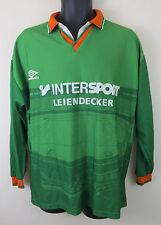 Vtg Umbro Football Shirt Retro Soccer Jersey Green Camiseta Trikot Vintage Large