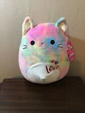 "Kellytoy 8"" Squishmallow Cindy The Cat Soft Plush Pillow Toy 🌈 Valentines Day"