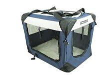 """48""""Fabulous Pet 3-Door Folding Soft Crate, Indoor & Outdoor Pet Home NAVY/GREY"""