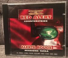 COMMAND & CONQUER Red Alert Counterstrike Missions Taiga PC GAME Disc Mint