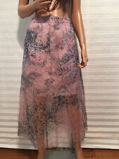 LKNW Authentic CARVEN Organza Silk and Cotton Double Skirt sz 38