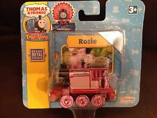 Thomas THE TANK ENGINE DIE CAST METAL Rosie RARA curva di apprendimento ruote rosa