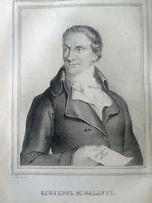 GIUSEPPE M. GALANTI economista Litografia origin. UOMINI ILLUSTRI 1838 NAPOLI