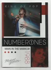 2011 Panini Michael Jackson King Of Pop Number Ones Platinum #187 (MAN IN MIRROR