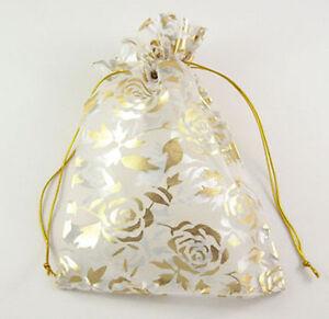 10 x 12cm Rectangular Organza Jewellery Wedding Favour / Favor Gift Present Bags