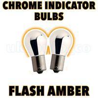 BMW E46/E60/E36 Silver/Chrome AMBER Indicator Bulbs o