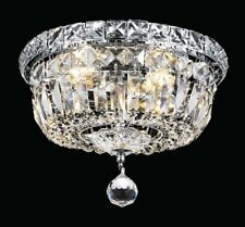 """10"""" Crystal Gold or Chrome Contemporary T Rain Chandelier Lighting Fixture"""
