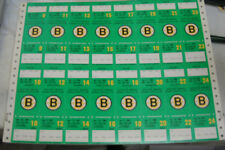 3 lot VINTAGE 1985 BOSTON BRUINS PROOF TICKET SHEET GARDEN SEASON TICKET GREEN