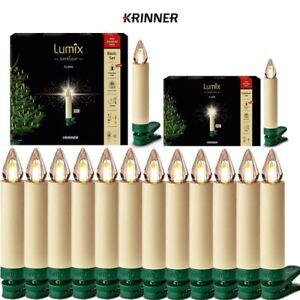 Kabellose LED Christbaumkerzen Krinner Lumix SuperLight Flame Warmweiß Elfenbein