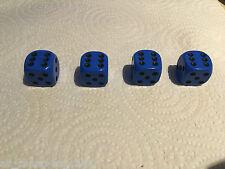 4 x  Blue Black Pips Spots Dice Dust Valve Caps Retro 80's Hotrod VW